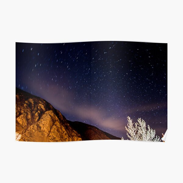Starry Mountain Haze Poster