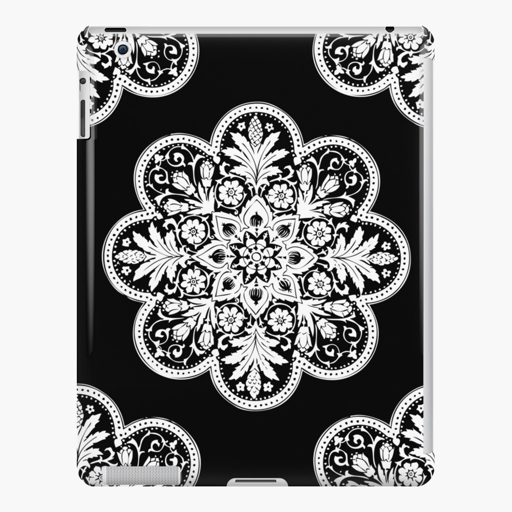 Floral Doily Pattern Black And White Vintage Patterns Ipad