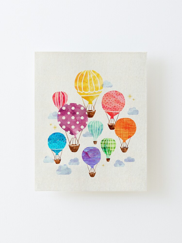 Alternate view of Hot Air Balloon Mounted Print