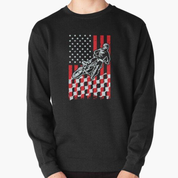 American Rider Bike Biker Flag Freedom Life Mens Gray Sweatshirt
