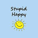 Stupid Happy Cute Sun Vertical Light-Color by TinyStarAmerica