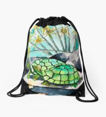 Turtle Lounge Drawstring Bag