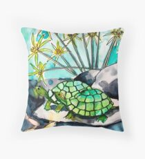 Turtle Lounge Throw Pillow