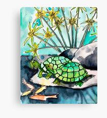 Turtle Lounge Canvas Print