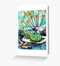 Turtle Lounge Greeting Card
