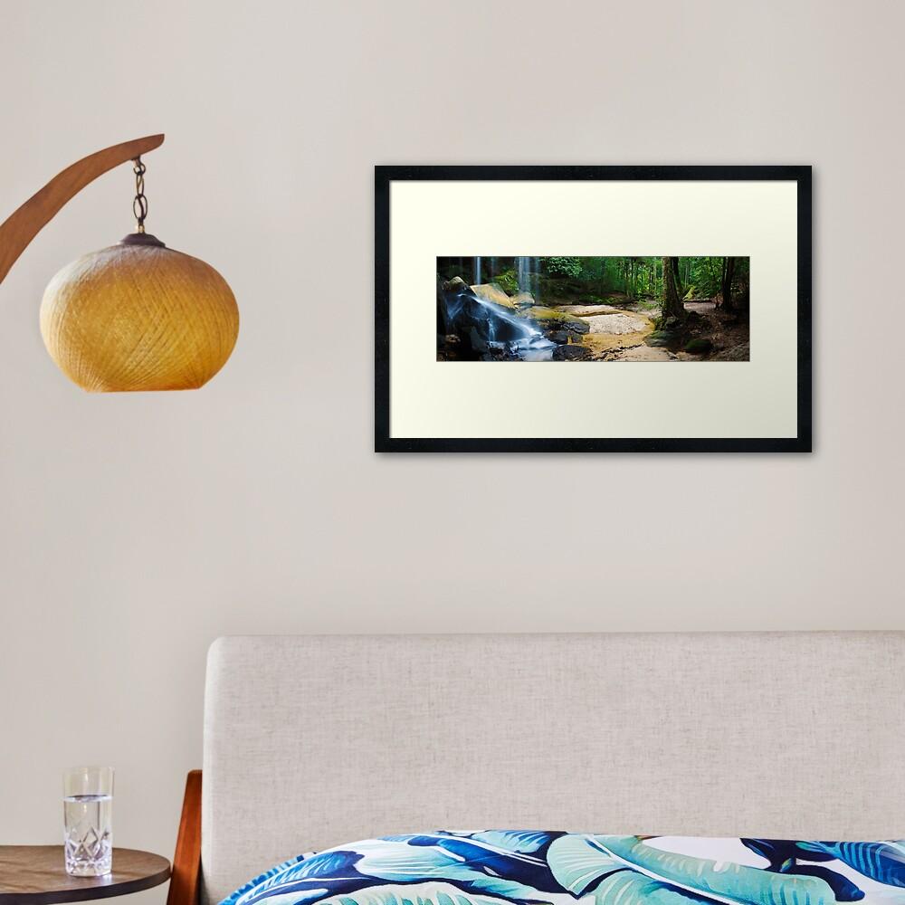 Oakland Falls, Hazelbrook, New South Wales, Australia Framed Art Print