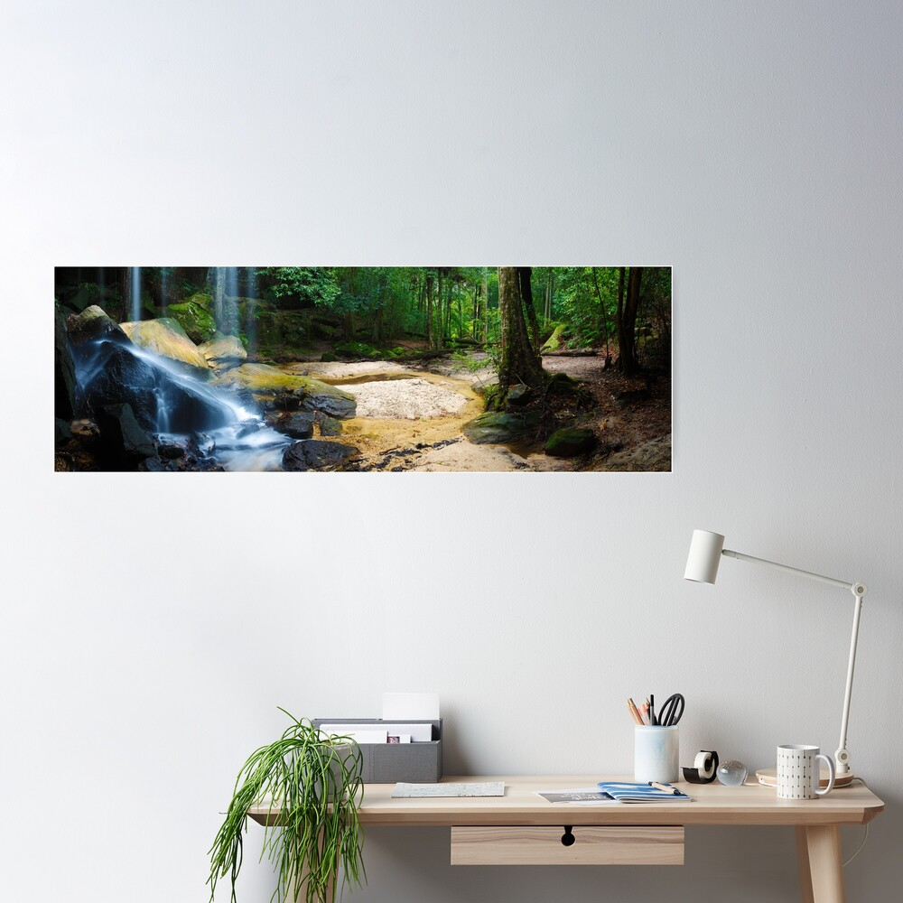 Oakland Falls, Hazelbrook, New South Wales, Australia Poster