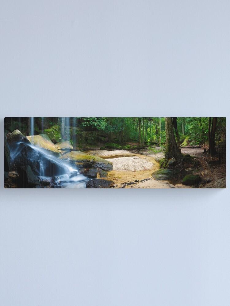 Alternate view of Oakland Falls, Hazelbrook, New South Wales, Australia Canvas Print