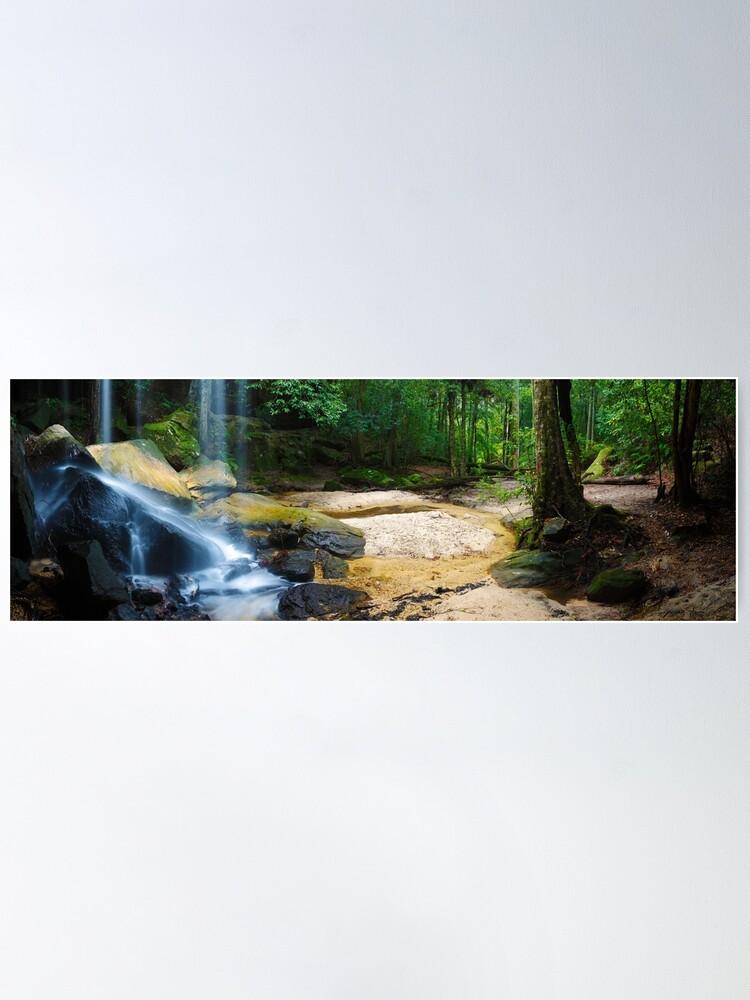 Alternate view of Oakland Falls, Hazelbrook, New South Wales, Australia Poster