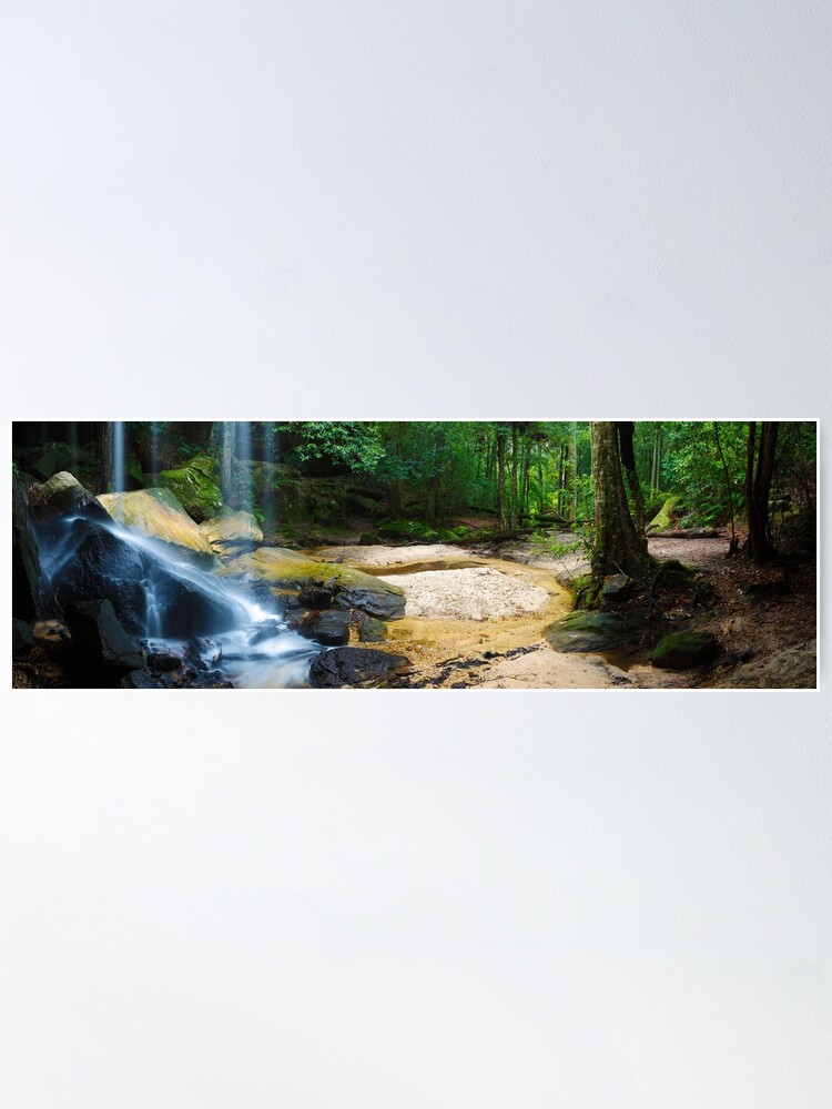 Alternate view of Oakland Falls, Hazelbrook, New South Wales, Australia Poster