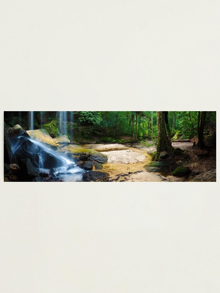 Alternate view of Oakland Falls, Hazelbrook, New South Wales, Australia Photographic Print