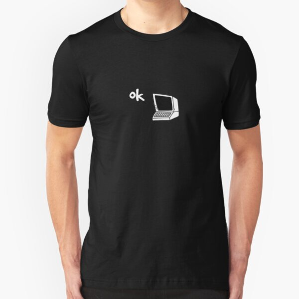radiohead inspired ok computer t-shirt Slim Fit T-Shirt