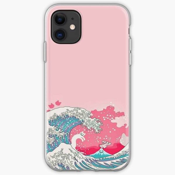 Pink Pale Waves - Iphone & Galaxy Cases iPhone Soft Case