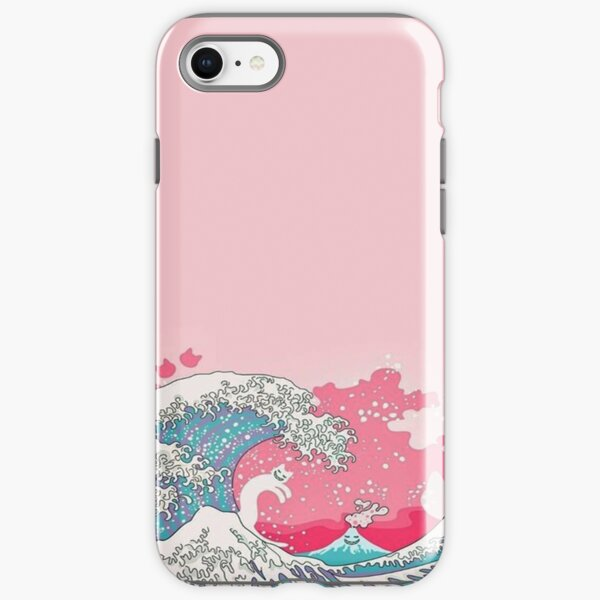 Pink Pale Waves - Iphone & Galaxy Cases iPhone Tough Case