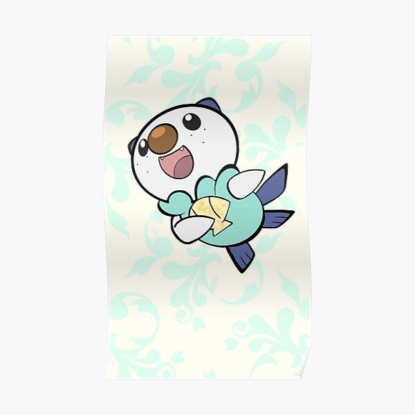Oshawott Evolutions Pokemon Poster Art Print Watercolor Anime Print Poster