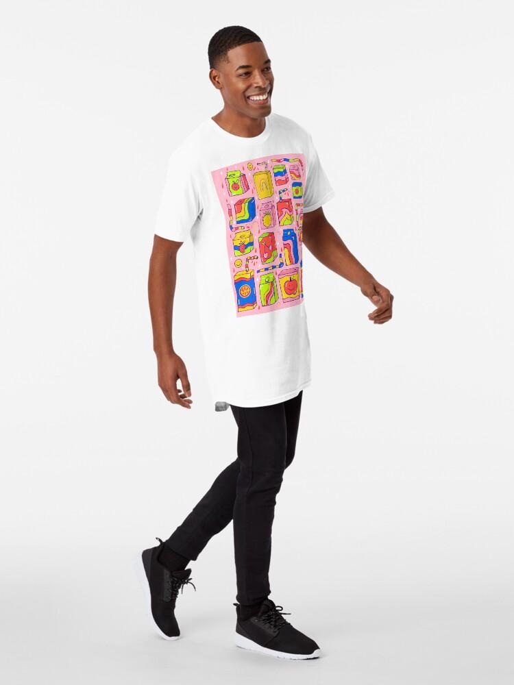 Alternate view of Juice Box Print Long T-Shirt