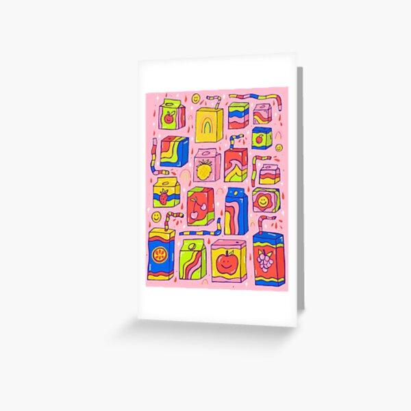 Juice Box Print Greeting Card