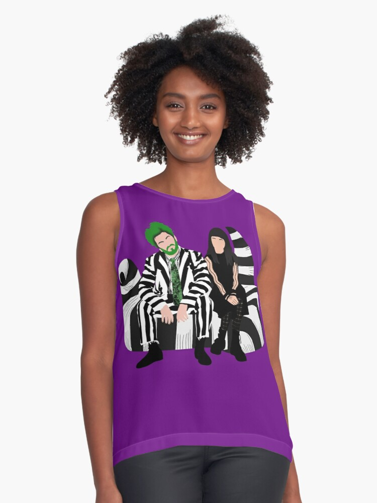 Beetlejuice And Lydia Beetlejuice The Musical Sleeveless Top By Dgdoesart Redbubble