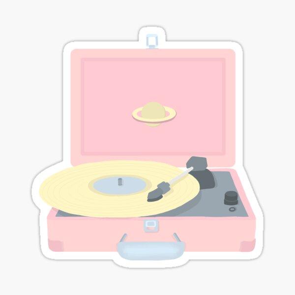 Pastel Record Player  Sticker