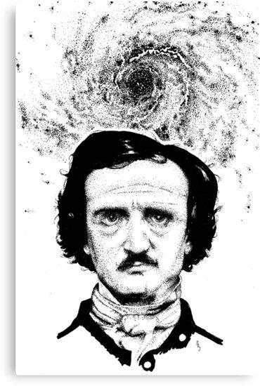 Poe Portrait original inks by Pete Janes