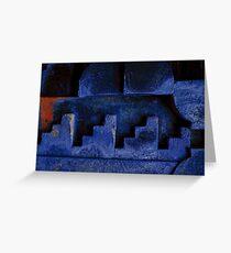 Blue Urban Abstract-704  Greeting Card