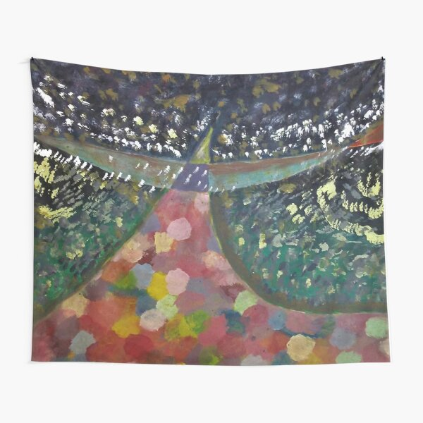 the girl carries the wind Tapestry