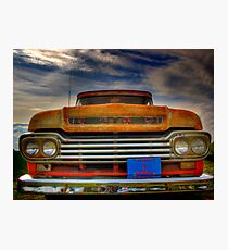Textured Ford Truck Photographic Print