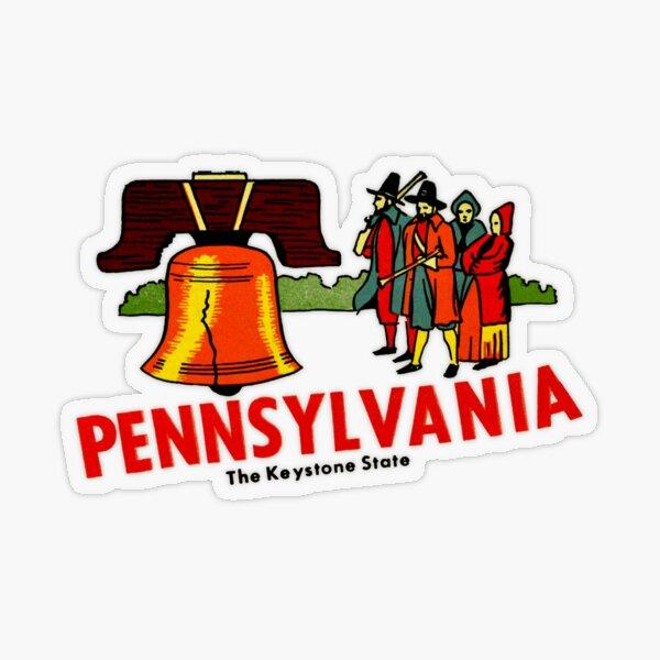 Pennsylvania PA The Keystone State Vintage Travel Decal Transparent Sticker