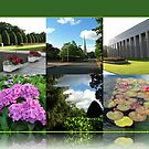Preston Temple Grounds in August Collage von BlueMoonRose