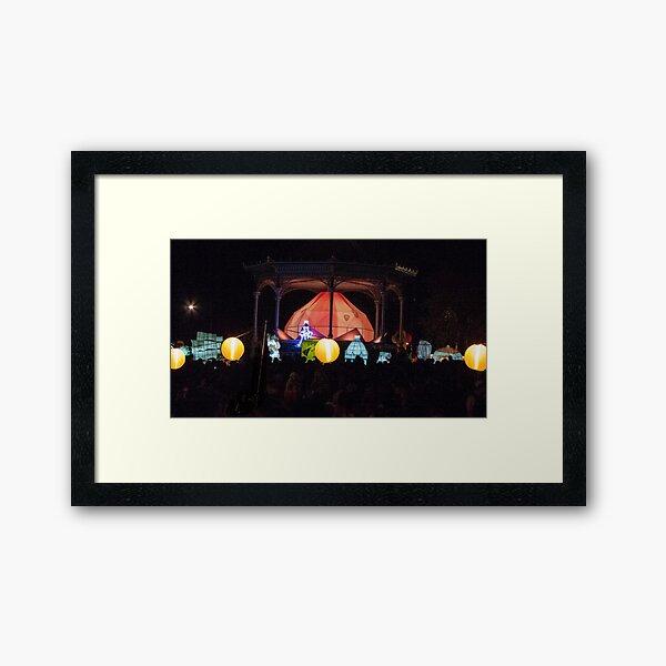 Adelaide Moon Lantern Festival Framed Art Print