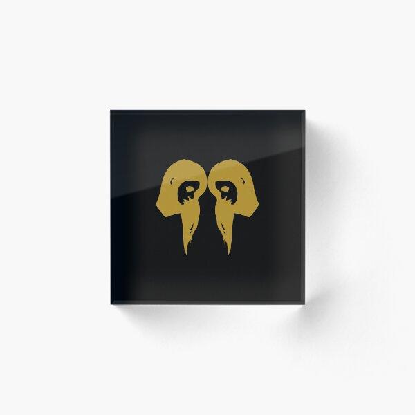 Gemini - Zodiac Symbols Acrylic Block