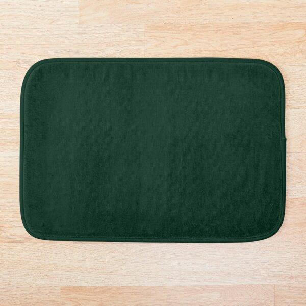 solid dark green Bath Mat