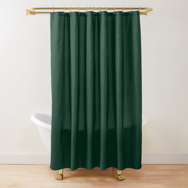 solid dark green Shower Curtain