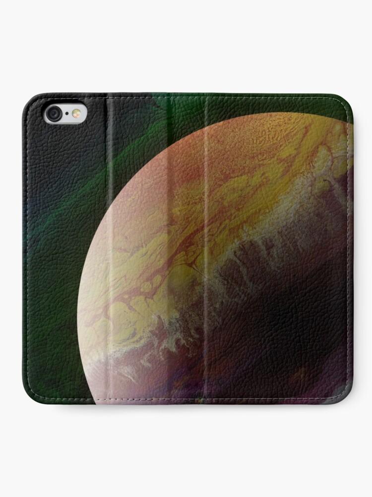 Alternate view of Axial Tilt: planet art iPhone Wallet