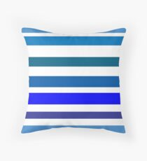blue and white stripe Floor Pillow