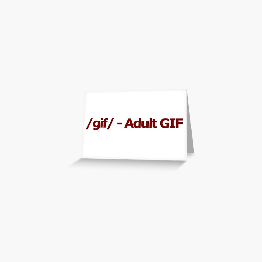 4Chan Gif / gif / - adult gif 4chan logotipo | tarjetas de felicitación