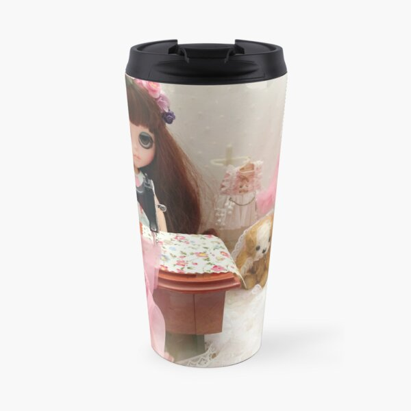 Belle and Puchi Blythe doll and pet dog by Jenny Lee Travel Mug