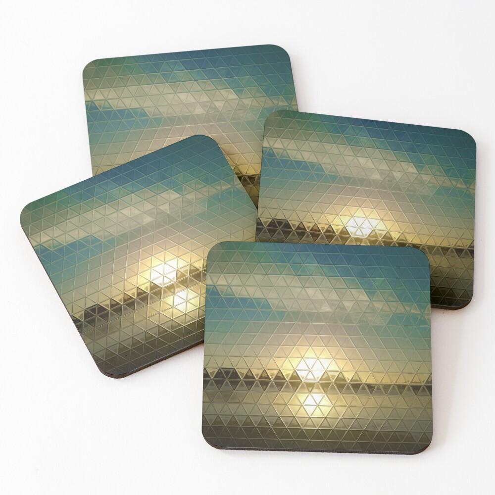 Tri-glass Horizon Sun Coasters (Set of 4)