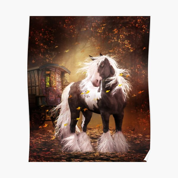 Gypsy Gold - Gypsy Vanner horse Poster