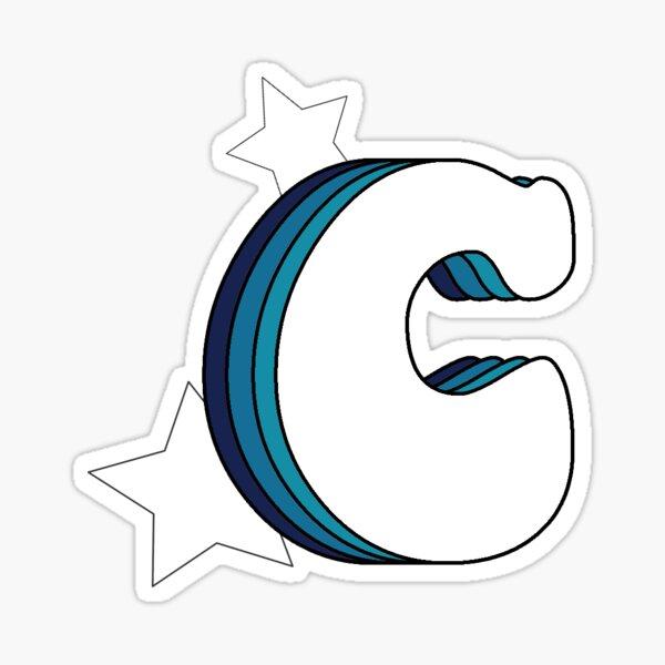 Retro C (Blue) Sticker