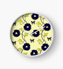 Art Nouveau - Blue on Yellow Clock