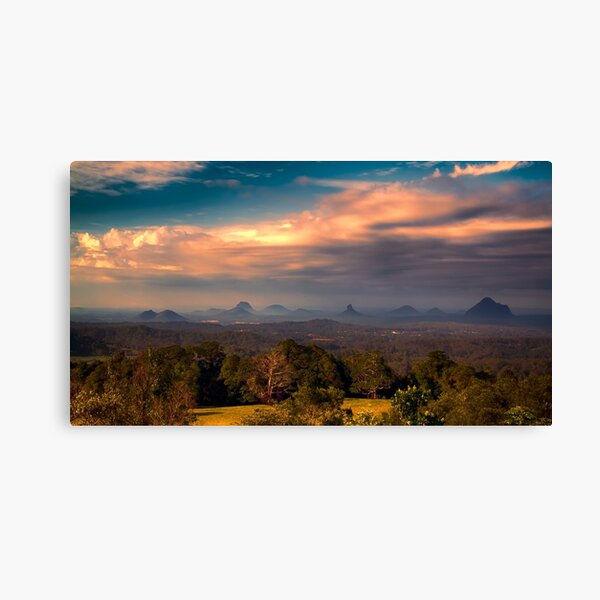 Glashhouse Mountains at Sunset Canvas Print