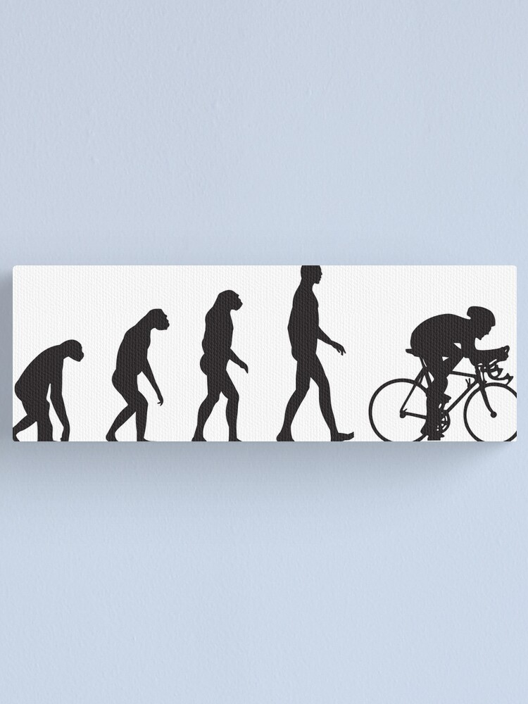 Alternate view of Evolution Cycling Canvas Print
