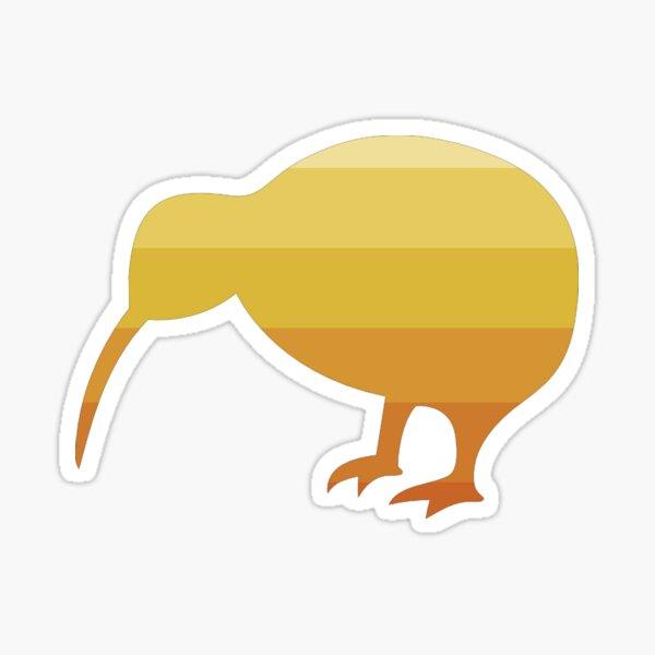 Kiwi in Navel Orange Ombre Sticker