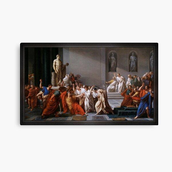 La morte di Cesare (The Assassination of Julius Caesar) by Vincenzo Camuccini Canvas Print