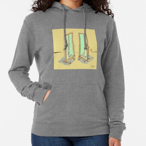 Side by Side Mirrors Lightweight Hoodie
