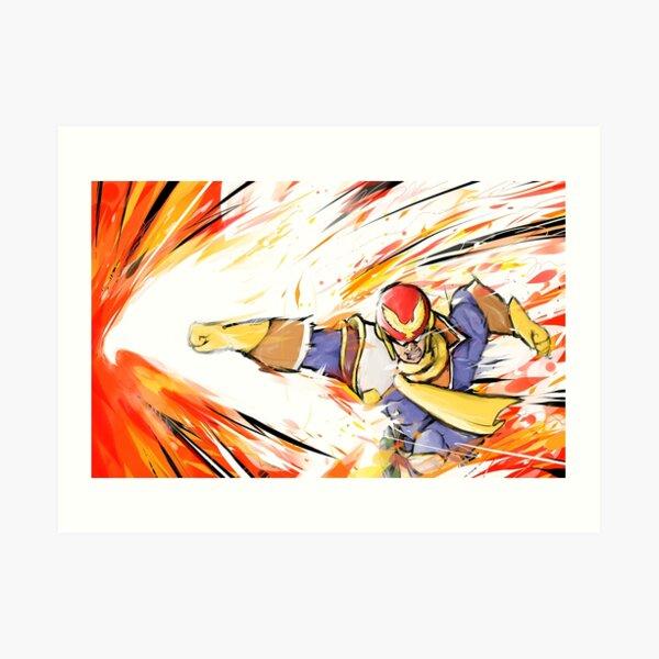 Captain Falcon   Falcon Punch Art Print