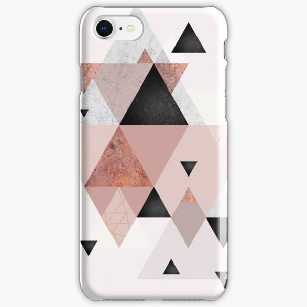 Geometric Compilation in Rose Gold and Blush Pink iPhone Snap Case