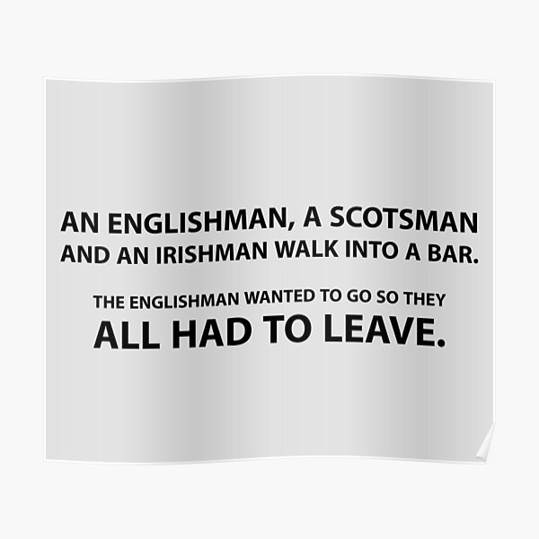 Brexit bar joke - funny Poster