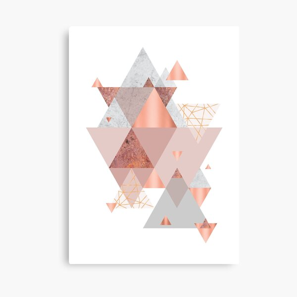 Blush Pink Geo Canvas Print